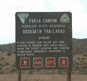 Paria Warning Sign